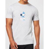 Plain Lazy Anti-Social Media Men's T-Shirt - Grey - L - Grey