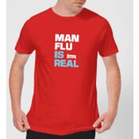 Plain Lazy Man Flu Is Real Men's T-Shirt - Red - M - Red
