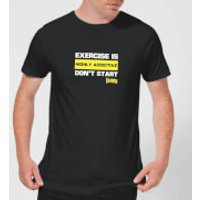 Plain Lazy Exercise Is Highly Addictive Men's T-Shirt - Black - XXL - Black - Exercise Gifts