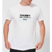 Plain Lazy Chubby and Loving It Men's T-Shirt - White - XXL - White