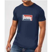 Plain Lazy Logo Print Men's T-Shirt - Navy - XL - Navy