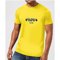 Plain Lazy Gym People Scare Me Men's T-Shirt - Yellow - XXL - Yellow - Gym Gifts