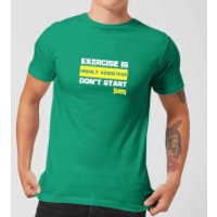 Plain Lazy Exercise Is Highly Addictive Men's T-Shirt - Kelly Green - XXL - Kelly Green - Exercise Gifts