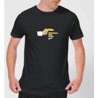 Plain Lazy Bananas Not Guns Men's T-Shirt - Black - XXL - Black - Guns Gifts
