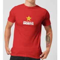 Plain Lazy Employee Of The Month Men's T-Shirt - Red - M - Red