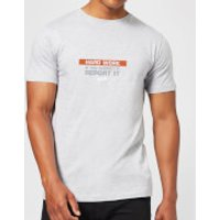 Plain Lazy Hard Work Men's T-Shirt - Grey - XL - Grey