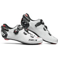 Sidi Wire 2 Carbon Air Road Shoes - White/Black - EU 45 - White/Black