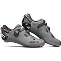 Sidi Wire 2 Carbon Matt Road Shoes - Matt Grey/Black - EU 43 - Matt Grey/Black