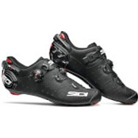 Sidi Wire 2 Carbon Matt Road Shoes - Matt Black - EU 46 - Matt Blue/Black