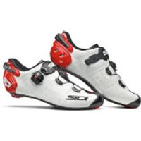 Sidi Wire 2 Carbon Road Shoes - White/Black/Red - EU 45.5 - White/Black/Red