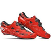 Sidi Shot Matt Road Shoes - Matt Red - EU 44 - Matt Blue/Black