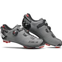 Sidi Drako 2 SRS Matt MTB Shoes - Matt Grey/Black - EU 43 - Matt Grey/Black