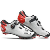 Sidi Drako 2 SRS MTB Shoes - White/Black/Red - EU 40 - White/Black/Red