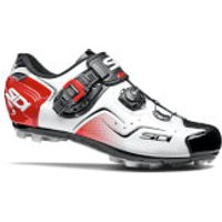 Sidi Cape MTB Shoes - White/Black/Red - EU 47 - White/Black/Red