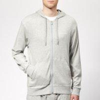 Calvin Klein Men's Full Zip Lounge Hoodie - Grey Heather - S - Grey