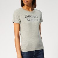 Emporio-Armani-Womens-Sequin-Logo-TShirt-Grey-IT-44-Grey