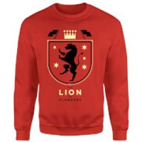 The Lion Of Flanders Sweatshirt - M - Red