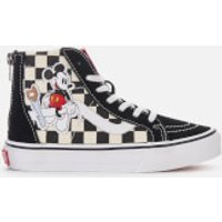 Vans Kids Disney Mickey Sk8Hi Zip Trainers  Checkerboard  UK 1 Kids  Multi