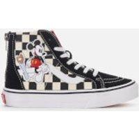 Vans Kid's Disney Mickey Sk8-Hi Zip Trainers - Checkerboard - UK 13 Kids - Multi