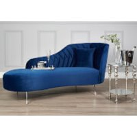 Fifty Five South Rene Right Arm Chaise Longue - Dark Blue Velvet