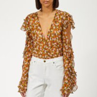 Bec & Bridge Women's Stevie Bodysuit - Floral Print Floral - UK 12 - Multi