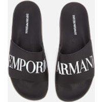 Emporio Armani Men's Zadar Slide Sandals - Black/White - UK 10 - Black/White