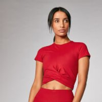 Myprotein Power Short Sleeve Crop Top - Crimson - S