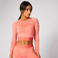 Inspire Seamless Crop Top - Hot Coral - S