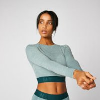 Inspire Seamless Crop Top - Teal - M