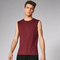 Luxe Classic Sleeveless T-Shirt - Oxblood - XS - Oxblood