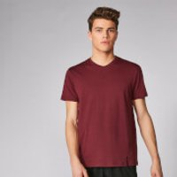 Luxe Classic V-Neck T-Shirt - Oxblood - XS - Oxblood