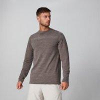 MP Aero-Knitted Long Sleeve T-Shirt - Driftwood Marl - XXL