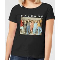 Friends Retro Character Shot Women's T-Shirt - Black - XL - Black