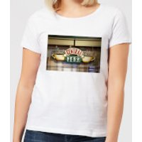 Image of Friends Central Perk Coffee Sign Women's T-Shirt - White - S - White