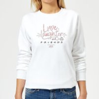 Friends Love Laughter Women's Sweatshirt - White - 5XL - White - Laughter Gifts