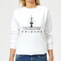 Friends Fountain Sketch Women's Sweatshirt - White - S - White