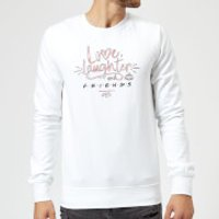 Friends Love Laughter Sweatshirt - White - 5XL - White - Laughter Gifts