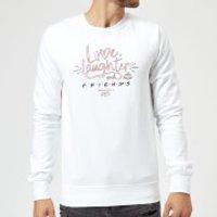 Friends Love Laughter Sweatshirt - White - S - White