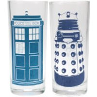 Doctor Who Cold Changing Glasses (Set of 2)