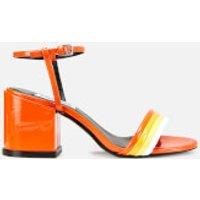 Kenzo Block Heeled Sandals - Deep Orange
