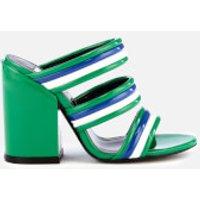 Kenzo Ana Heeled Mule Sandals - Grass Green
