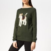 Joules Women's Miranda Intarsia Jumper - Green Dog - UK 12 - Green