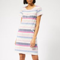 Joules Womens Henrietta Linen Shift Dress - Blue Stripe - UK 8 - Multi