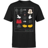 Disney Mickey Mouse Construction Kit Women's T-Shirt - Black - XXL - Black