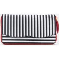 Lulu Guinness Women's Stripe Continental Wallet - Black/Chalk