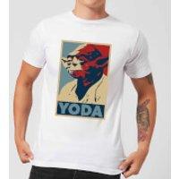 Star Wars Yoda Poster Men's T-Shirt - White - XL - White