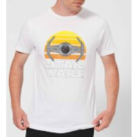 Star Wars Sunset Tie Men's T-Shirt - White - XL - White