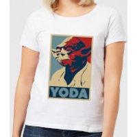 Star Wars Yoda Poster Women's T-Shirt - White - 5XL - White - Yoda Gifts