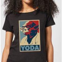 Star Wars Yoda Poster Women's T-Shirt - Black - 5XL - Black - Yoda Gifts