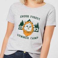 Image of Star Wars Endor Camp Women's T-Shirt - Grey - XS - Grey